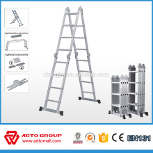 2016 hot sale EN131 telescopic aluminium ladder,3 section ladders,climb ladder