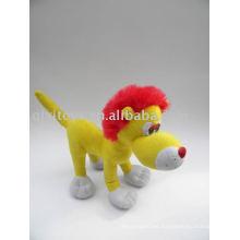 peluche peluche león rojo peluche