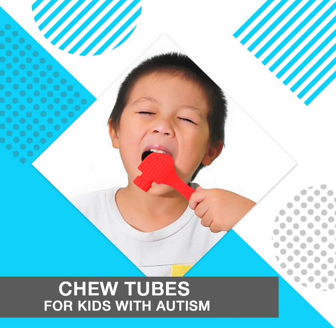 Silicone Teether Chew Tubes