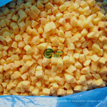 Jintong, 83# IQF Frozen Yellow Peach Dices
