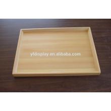 Hochwertiges Holz unvollendet servieren Tee und Obst Tablett