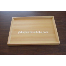 High Quality Wood Unfinished Serving Tea and Fruit Tray