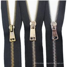 Brass Copper Metal Teeth Custom Metal Zipper for Coat