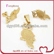 Fashion Jewelry Set Gold Plated Pendant