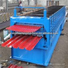 Machine de formage de rouleaux de carreaux en tôle ondulée IBR et ondulée