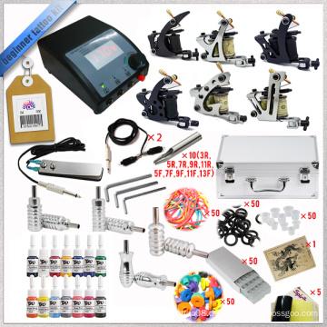 2015 neueste professionelle Tattoo Kits billig 6 Tattoo Rotation Maschine Tattoo-Kit