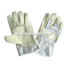 Gepatcht Palm Möbel Lederhandschuh-4020