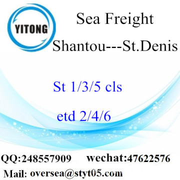 Shantou Port LCL Consolidation To St.Denis