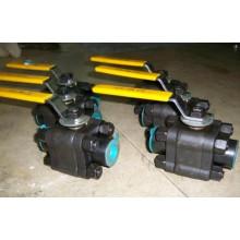 3PC haute pression A105 NPT / sw forgé robinets à boisseau sphérique