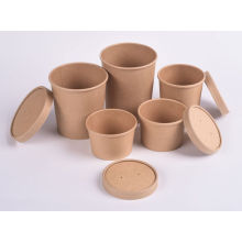 Disposable Paper Rice Salad Snacks Bowls With Lids