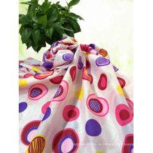 Цветок Напечатанная Ткань Pongee Полиэфира