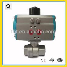 Válvula de bola de acero inoxidable AC24V, AC220V Válvula de actuador de aire neumático