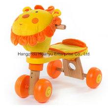 Bicicleta de madeira do projeto novo com cabeça do leão