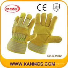 Яловичная безопасность промышленного производства в пачках исправлена работа кожаных перчаток (12002-1)