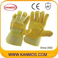 Guarnición de la seguridad industrial del grano del zurriago Guantes de cuero trabajados de la mano de la palma (12002-1)