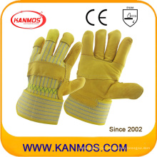 Cowhide Grain Industrial Safety Патч Palm Work Leather Gloves (12002-1)