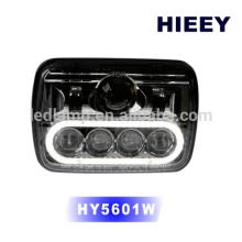 "DOT approval 5""x7"" rectangle LED high low beam head light headlight offroad headlight"