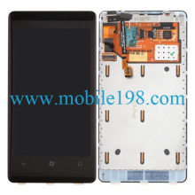LCD and Digitizer Assembly with Frame for Nokia Lumia 800