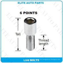 6 Punkte Tuner Lug Schrauben für Auto