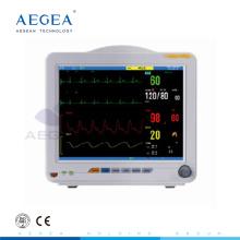 AG-BZ008 dispositif médical fréquence cardiaque équipement multi paraments ICU hôpital moniteur