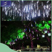 Douches de pluie de météorite romantique Tubes de pluie à LED