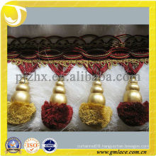 Pom Pom Trimming for Decoration Curtain,Curtain Accessory of Tassel Fringe