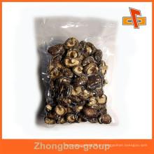 Material de nylon laminado de grau alimentar personalizado impresso vácuo sacos de plástico selados para cogumelo
