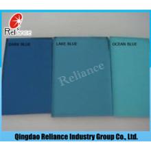 Cristal tintado azul marino de 6 mm con certificado ISO