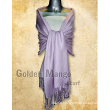 Plain color viscose pashmina stoles