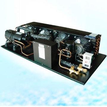 HVAC R404A gas unidades de condensación de equipos de refrigeración para congeladores de sangre refrigeración supermercados van catering