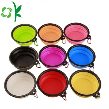 Pet Travel Lipat Makanan Silicone Dog Water Bowl