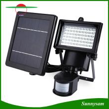 60 светодиодных солнечных батарей безопасности Светодиодный датчик движения Светодиодный свет наводнения Настенный аварийный свет