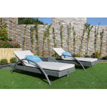 Poly Rattan Outdoor Sun Lounger for Beach, Pool and Resort