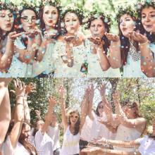 Farbige biologisch abbaubare Seidenpapier Confetti Hochzeit Party heiße Verkäufe biologisch abbaubare Konfetti Poppers
