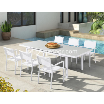 Aluminium Frame Patio Garden Furniture Dining Set