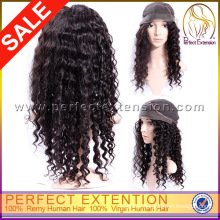 With Straight Bangs Medium Length Mongolian Yellow Long Kinky Curly Wigs