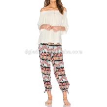 Piernas de pierna ancha pierna yoga pantalones mujeres harén basculador tailandés pantalones de yoga