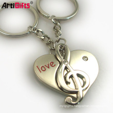 Best promotional items heart shape puzzle piece keyring keychain