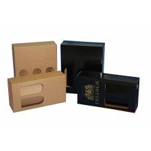 Black Corrugated Cardboard Mailing Box Packaging