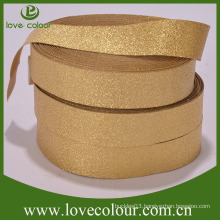 Factory Custom Gold Ribbon Elastic webbing free sample