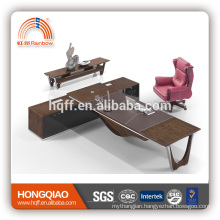 DT-19 wooden office desk stainless steel table base office executive desk