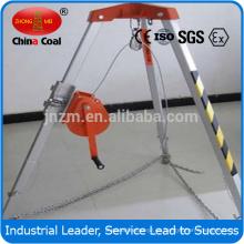Proteja el trípode de seguridad del lugar de trabajo de rescate con 17,3 kg