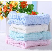 six layer cotton handkerchief new born baby face towels nursing towel