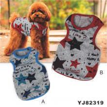 Estrella impresión perro Camisetas, Hot Pet ropa (YJ82319)