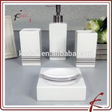 Набор розовых мини-фарфоровых керамических аксессуаров для ванной комнаты
