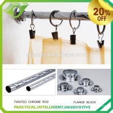 DP0028 2016 latest curtain design home fashion decoration metal curtain pole