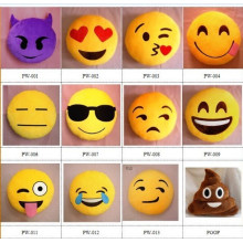 Großhandel billig niedlichen Plüsch whatsapp emoji Kissen