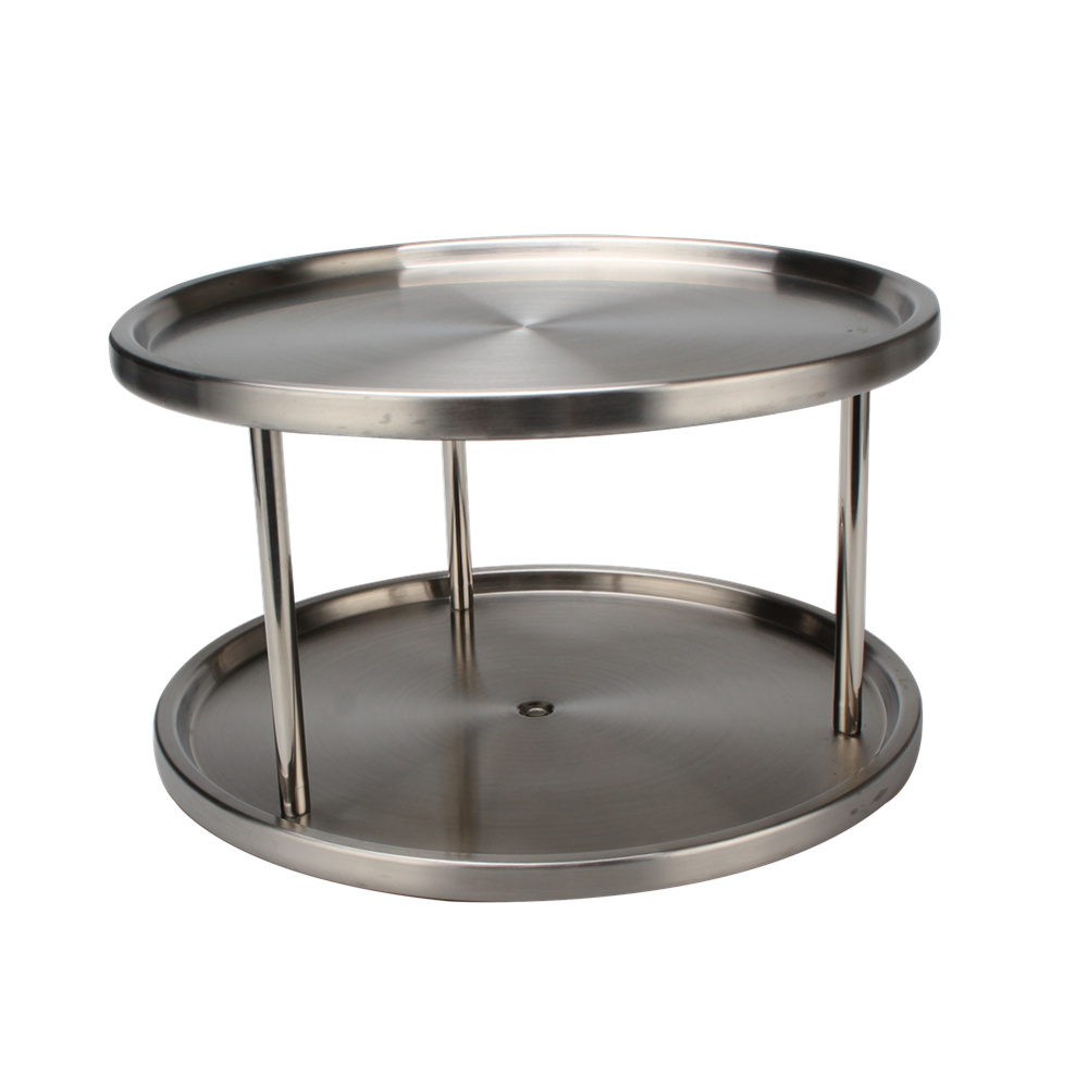 2 Tier Lazy Susan Turntable Use For Kitchen Cabinet Organizers