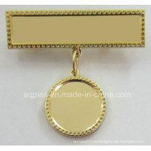 Insignia de metal con percha simple (badge-243)