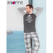 Miorre мужские пижамы хлопка с длинным рукавом пижамы набор